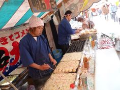 A stand selling octopus balls outside the Fushimi Inari Shrine in Kyoto. Photo: Spud Hilton / The Chronicle