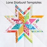 The Lone Starburst.  Template for paper piecing