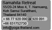 Samahita Yoga Thailand - Here are the details!!!