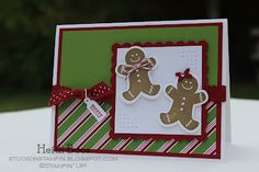 Stuck on Stampin': scensational season gingerbread men christmas cards, christma card, scentsat season, scrapbook card, card xmas, seasons, fun card, stampin, gingerbread