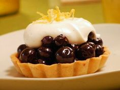 Blueberry Pie with Chantilly Cream Recipe : Food Network - FoodNetwork.com
