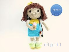 Pattern: Crochet Doll with Instagram Camera and Ice Cream - My Summertime Doll - PDF Amigurumi Doll Pattern