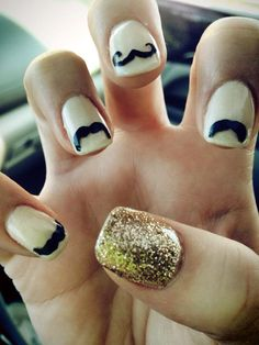 Movember gelish nails-Next Year!