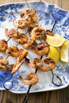 Paula Deen Glazed Barbeque Shrimp