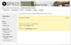 """O-Space Help for the CMS or """"My Courses"""" area."""