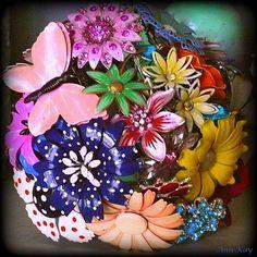 Custom Jewelry Brooch Creation, Bridal Bouquet