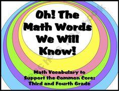 Math vocabulary mega pack! $