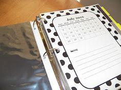forms for teacher notebook