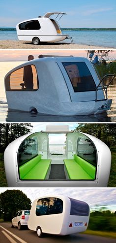 The Sealander Aquatic Trailer - The world's first consumer amphibious camper!