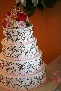 Pink and Gold Quinceanera cake