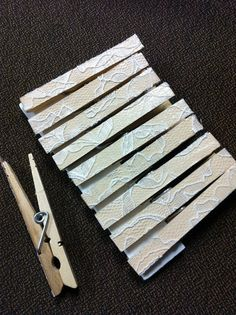 lacy clothespins! A fun way to fancy up something so simple!