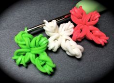Mini Cross Rubber Band Charm Without the Rainbow Loom