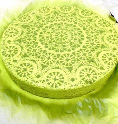 DIY stepping stone.  Thinking natural colored brick with either white or black for the spray paint #doily