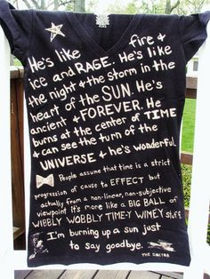 Doctor Who quotes on a t-shirt
