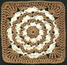 Amber Waves Afghan Square