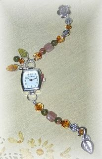 Beaded watch band
