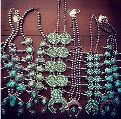 Vintage Navajo Turquoise Necklaces