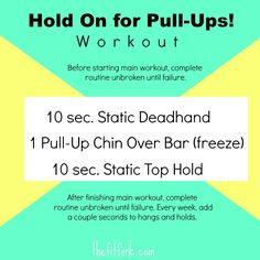 Hold on For Pull Ups