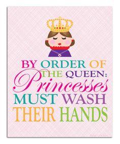 Princess 'Wash Your Hands' Print