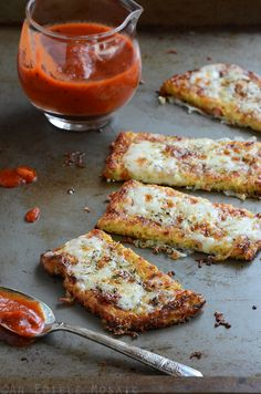 Cauliflower Crust Garlic Breadsticks