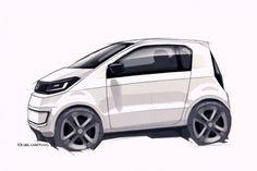 Volkswagen In Concept Design Sketch.