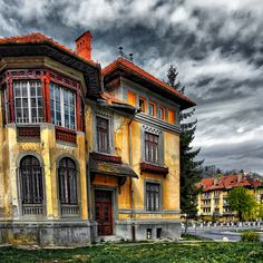 an abandoned building in Romania.