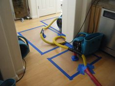 Our dry-mat system. This helps extract water in a more effective way from hardwood floors, limiting not only the bill but also the damage that can be caused in a water loss.     If your sink over flows, or a pipe breaks in your home, call us right away to perform our water extraction and drying services.