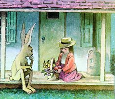 Maurice Sendak    Mr. Rabbit and the Lovely Present by my vintage book collection (in blog form), via Flickr