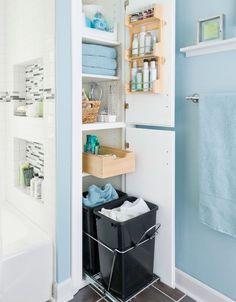 spice rack, small baths, bathroom storage, bathroom closet, small bathrooms, small storage, bathroom organization, linen closets, storage ideas