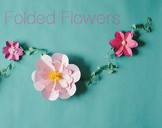 Quick   Easy method: Folded Flowers