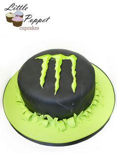 drink cake, hubbi birthday, monster energi, monster energy, luv cake, monster obsess, small birthday, birthday cakes
