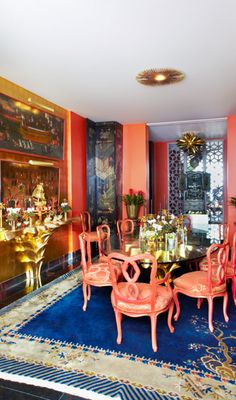 The Aestate:  craving coral post - dining room
