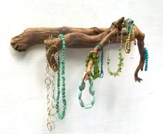 Jewelry Holder  Driftwood Rack Wooden Jewelry by DivineDriftwood, $38.90