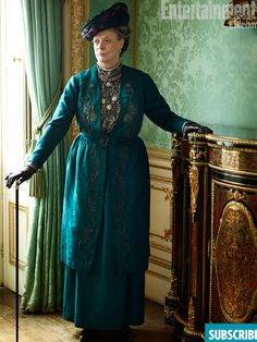 Dame Maggie Smith in Edwardian dress for Downton Abbey
