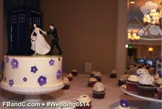 Design W 0514 | Fondant Flowers, Doctor Who Topper, Assorted Cupcake Flavors  | Custom Quote