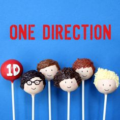 12 One Direction British Boy Band Cake Pops by SweetWhimsyShop, $48.00
