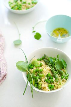 Millet with spring greens and lemon vinaigrette: A detox-friendly (and delicious) dish that's perfect for late spring.