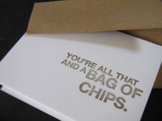 this would be fun for the kids to give on valentines day with a bag of chips instead of candy