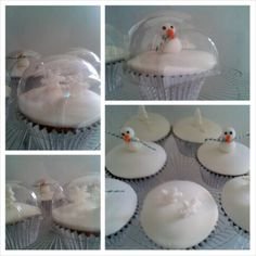 Snow globe cupcakes...
