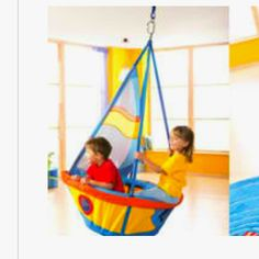 Indoor ship swing for multiple kids!