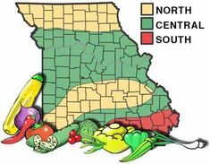 Growing zones in Missouri.... planting times for various plants