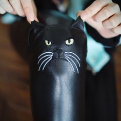 LEATHER CAT FACE LEGGINGS