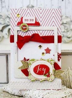 on the bright side... christmas cards, christma card, card inspir, ephemera christma