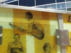 Glass Image Of David Boudia at Purdue University  All American David Boudia of Olympic Gold is featured on the All American Wall @ Purdue University Outside Mackey Arena. Done by GRT Glass Design. David hails from Noblesville Indiana    Congratulations