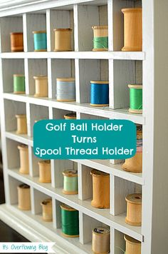 DIY Vintage Spool Thread Holder