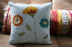 felt.flower.pillow by maureencracknell, via Flickr