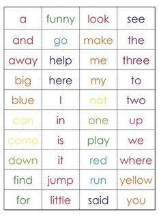 Free download - Pre Primer Sight Word Discovery Bottle Activity