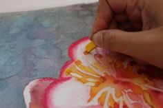 How to make your watercolor paintings pop with pastels: An online demonstration by artist Sandrine Pelissier