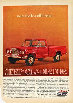 1963 Jeep Gladiator Pickup Ad - http://sweetcarpicturesonline.info/1963-jeep-gladiator-pickup-ad/