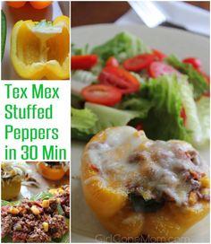 Tex Mex Stuffed Peppers - Girl Gone Mom
